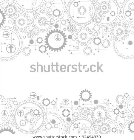 Cog engins lumineuses composite numérique bureau étage Photo stock © wavebreak_media