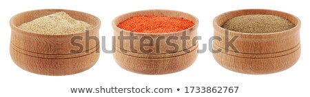 Red peppercorn in wooden bowl Stock photo © grafvision