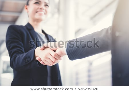 people at a business meeting. businessman and businesswoman. multi-ethnic group Stock photo © studiostoks