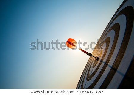 Stockfoto: Focus Arrows Concept Dark Blue Background