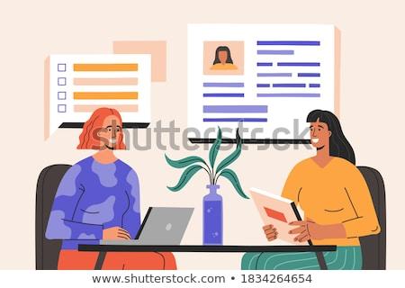 Opportunities search flat vector illustration Stock photo © RAStudio