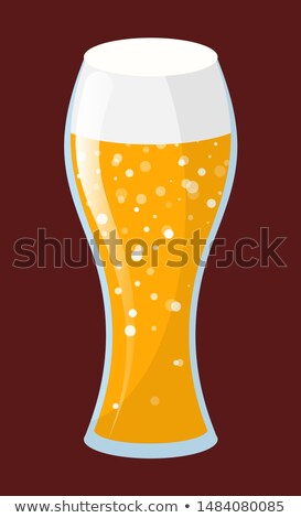 Tipple Beverage, Beer or Ale in Glassware Vector Stock photo © robuart