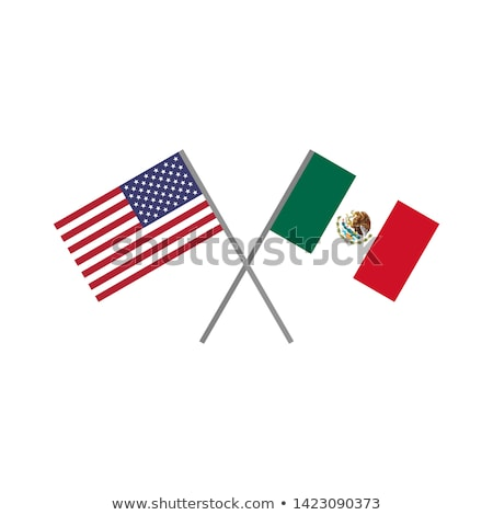 American economics vector illustration with flag of the USA and business chart, bar chart stock numb Stock photo © m_pavlov