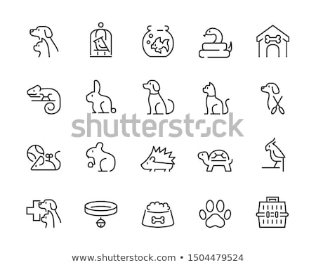 Cage for Hamster Icon Vector Outline Illustration Stock photo © pikepicture