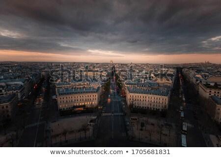 Parijs stadsgezicht top Arc de Triomphe naar noorden Stockfoto © sarahdoow