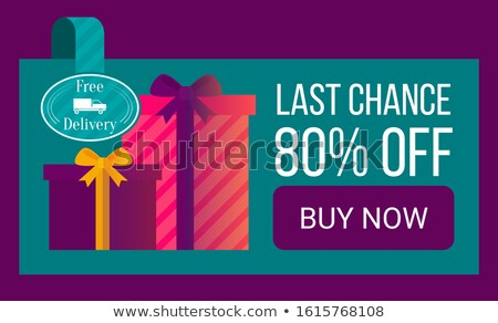 Vásár 80 százalék el ajándékdobozok leszállás Stock fotó © robuart