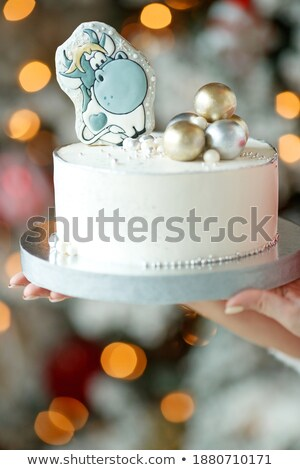 housewife eating a slice of chocolate cake  Stock photo © vladacanon