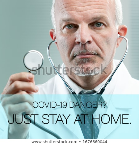 Médico ficar casa médico amavelmente Foto stock © Giulio_Fornasar