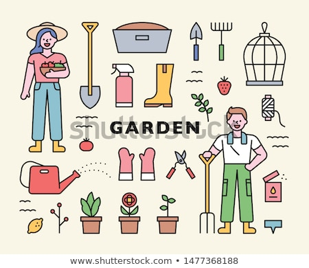 Gardening shovel. Isolated color icon. Spring vector illustration Stock photo © Imaagio