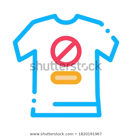 t-shirt protest icon vector outline illustration Stock photo © pikepicture