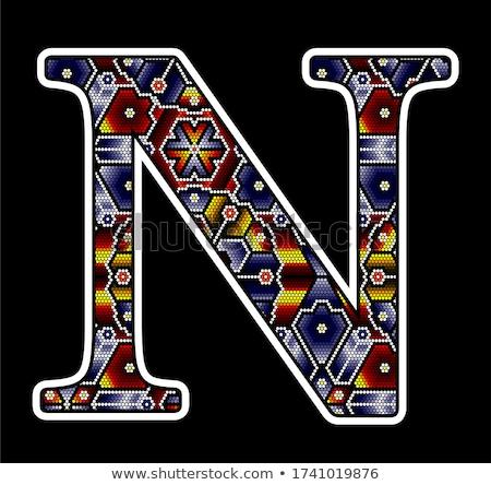 huichol art capital letter N Stock photo © hayaship