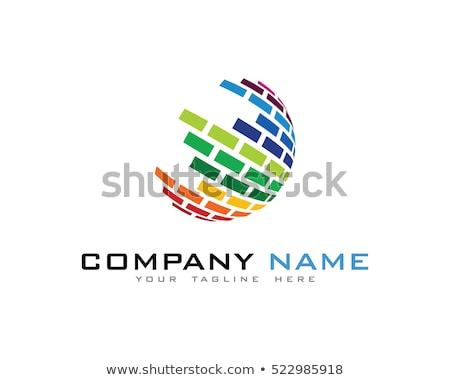 Drót világ logo sablon internet földgömb Stock fotó © Ggs