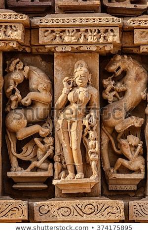 Famoso piedra panorama templo India unesco Foto stock © dmitry_rukhlenko