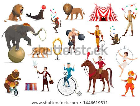Artist juggler in circus arena Stock photo © jossdiim
