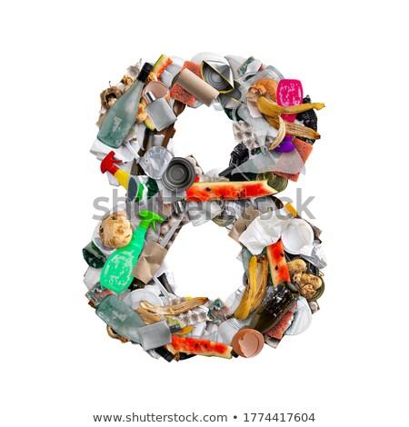 Número basura aislado blanco alimentos fondo Foto stock © grafvision