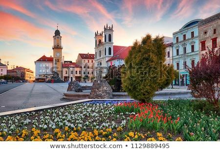 Vierkante Slowakije hoofd- huis stad reizen Stockfoto © borisb17