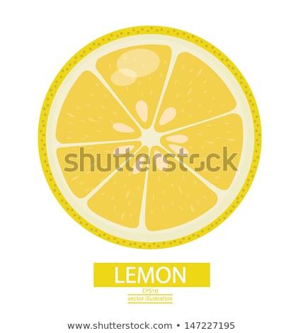 100 パーセント レモン ジュース 色 ストックフォト © Ansonstock