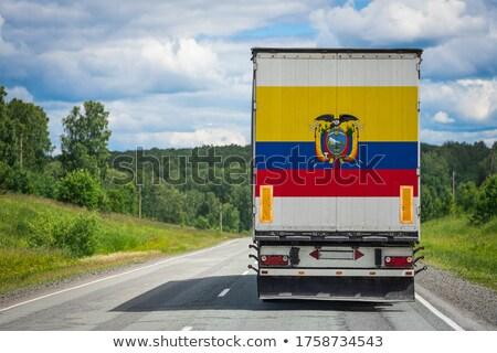 Equador sinal da estrada verde nuvem rua assinar Foto stock © kbuntu