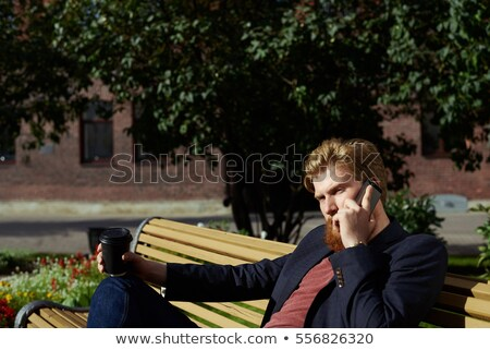 Conversa belo jovem loiro menina sério Foto stock © lithian