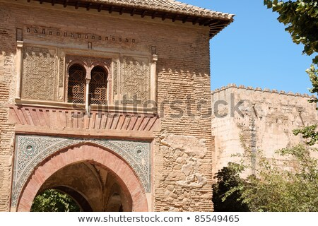Detail of Wine Gate and the Alcazaba Stock photo © aladin66