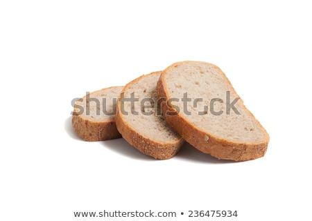 ライ麦 · パン · 孤立した · 白 · 食品 - ストックフォト © lypnyk2