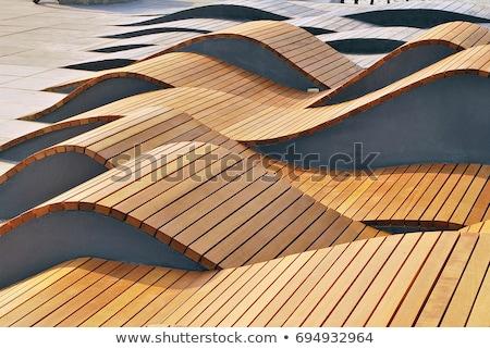 屋外 木製 ベンチ 表 庭園 木材 ストックフォト © borna_mir