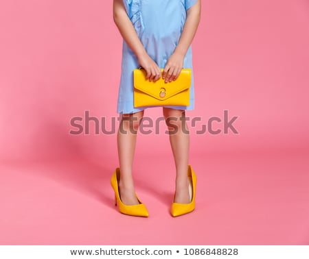 Baby Girl and Big Shoes Stock photo © rognar