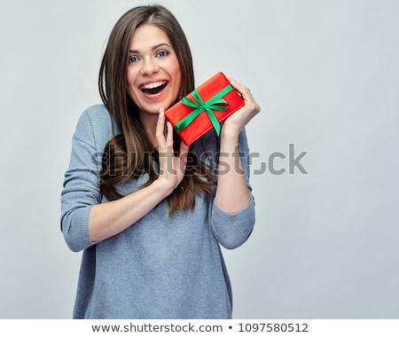 Belo jovem feliz mulher pequeno Foto stock © jaykayl