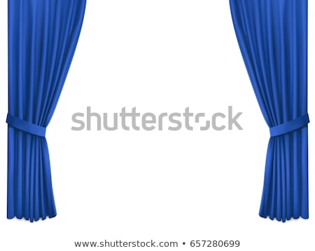 realistyczny · niebieski · kurtyny · ilustracja · projektu · streszczenie - zdjęcia stock © dvarg