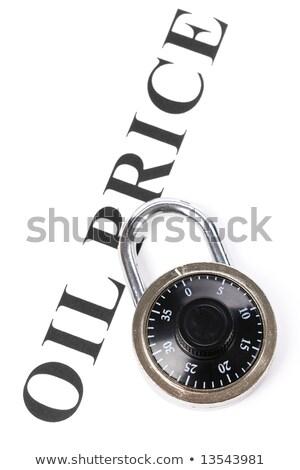 headline oil price and lock Stock photo © devon