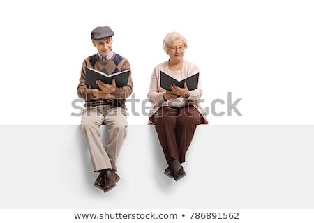 brunetka · okulary · przeczytać · książki · kobieta · dziewczyna - zdjęcia stock © jagston