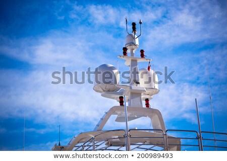 яхта · радар · технологий · связи · оборудование · роскошный - Сток-фото © redpixel