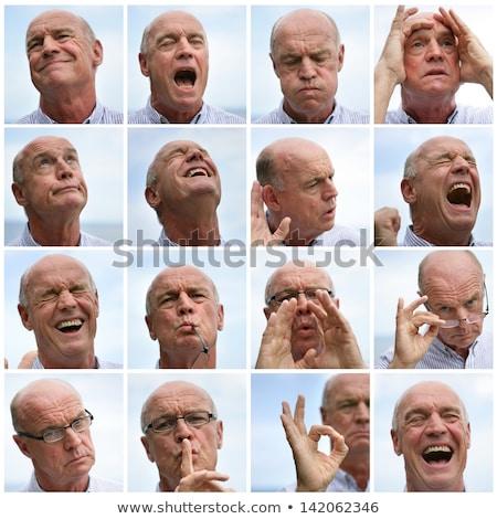 Elderly man euphoric Stock photo © photography33
