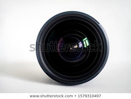 Stock fotó: Digitális · fotó · kameralencse · közelkép · izolált · fehér