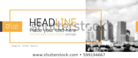 inmobiliario · anuncio · falso · periódico · negocios - foto stock © devon
