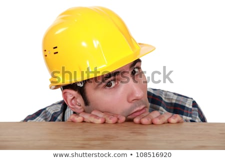 A fearful and timid tradesman Stock photo © photography33