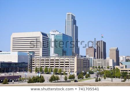 午前 ネブラスカ州 パノラマ 表示 市 ストックフォト © benkrut