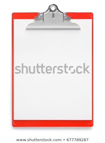 presse-papiers · liste · rouge · stylo · papier · écrit - photo stock © devon