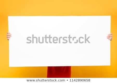 Courier handing a blank card Stock photo © broker