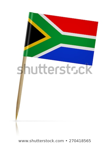 Miniature Flag of South Africa (Isolated) Stock photo © bosphorus