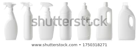пластиковых чистящие средства изолированный белый фон цветами Сток-фото © HectorSnchz