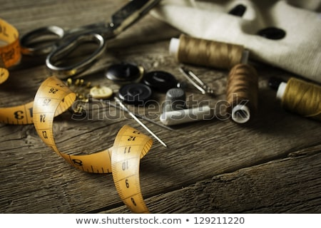 wooden tailor buttons Stock photo © compuinfoto