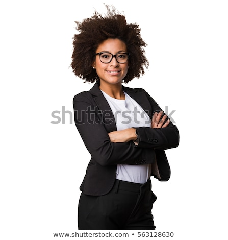 Pretty woman posing with her arms crossed stock photo © stockyimages
