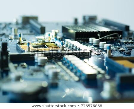 詳細 マザーボード 技術 背景 科学 速度 ストックフォト © jakatics