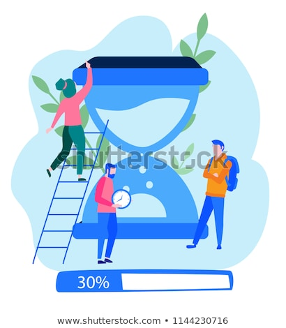 Hourglass on laptop. Time icon. Stock photo © gladiolus