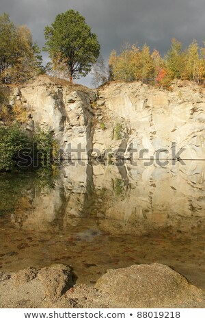 flooded stone quarry stock photo © pavelmidi
