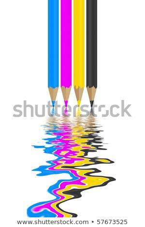 Rimpeling vloeibare ontwerp Blauw print zwarte Stockfoto © timbrk