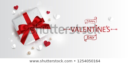 valentines day banner with heart and pearls vector illustration stock photo © carodi