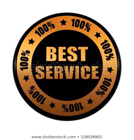 ストックフォト: ベスト · サービス · 100 · パーセンテージ · 黒
