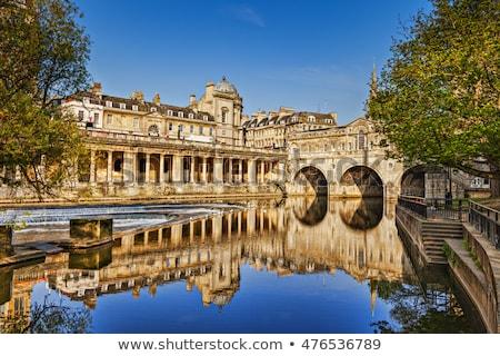Stok fotoğraf: Köprü · banyo · nehir · İngiltere · bir · dört